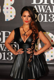 Preeya Kalidas rocked a super long, partial braid at the 2013 Brit Awards.