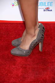 Cynthia Addai-Robinson wore stylish Art Deco-inspired pumps to the BritWeek Celebrates Downton Abbey event.