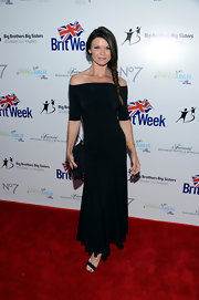 Danielle Vasinova went for minimalist elegance with this black one-shoulder dress at the BritWeek Celebrates Downton Abbey event.