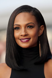 Alesha Dixon looked sensuous on 'Britain's Got Talent' with her deep red lips.