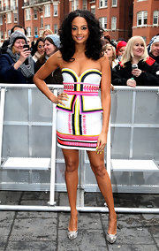 Alesha Dixon stepped out in trendy silver cap-toe pumps at the 'Britain's Got Talent' London auditions.