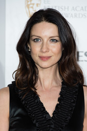 Caitriona Balfe framed her beautiful face with a gently wavy hairstyle for the BAFTA nominees party.