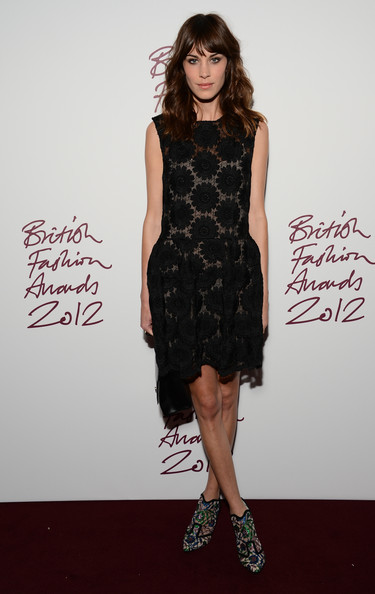 More Pics of Alexa Chung Long Wavy Cut with Bangs (1 of 6) - Long Wavy Cut with Bangs Lookbook - StyleBistro