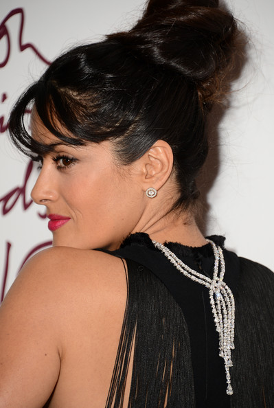 More Pics of Salma Hayek Cocktail Dress (2 of 7) - Salma Hayek Lookbook - StyleBistro