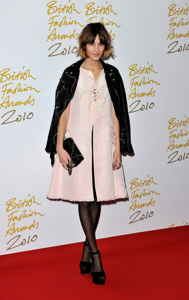 Alexa Chung at the 2010 British Fashion Awards