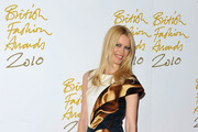 Claudia Schiffer is Unique in a Mary Katrantzou Print Dress