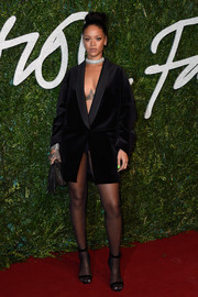 Rihanna could certainly wear an oversized tux jacket like it was the sexiest dress on earth.