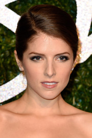 Anna Kendrick opted for a simple yet sophisticated side-parted bun when she attended the British Fashion Awards.