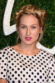 Sophia Webster rocked a messy crown braid at the British Fashion Awards.