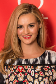 Niomi Smart looks gorgeous with this sweeping side part hairstyle at the British Heart Foundation's Tunnel of Love fundraiser
