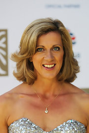 Sally Gunnell wore a luxuriant wavy 'do at the British Olympic Ball.