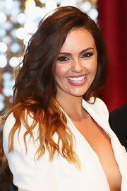 Jennifer Metcalfe styled her hair in beach waves for the British Soap Awards.