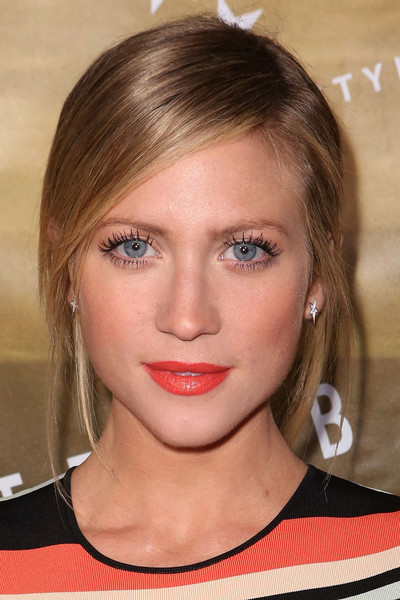 Brittany Snow Bright Lipstick [hair,face,eyebrow,hairstyle,lip,chin,blond,cheek,beauty,forehead,brittany snow,london,sunset tower hotel,west hollywood,california,ted baker,launch event,ted baker london ss16 launch event]