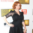Christina Hendricks' sheer puff sleeves