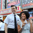 Andrew Rannells and Nikki M. James
