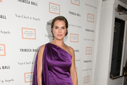 Brooke Shields One Shoulder Dress