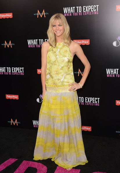 Brooklyn Decker Diamond Bracelet [what to expect when youre expecting,clothing,yellow,premiere,dress,carpet,fashion,flooring,red carpet,event,cocktail dress,arrivals,brooklyn decker,grauman,chinese theatre,california,hollywood,lionsgate,premiere,premiere]