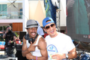 Actor/media personality Nick Cannon (L) and actor/television personality Mario Lopez attend FIFA World Cup Finals Bud Light and Budweiser VIP Party at the Palms Casino Resort on July 13, 2014 in Las Vegas, Nevada.