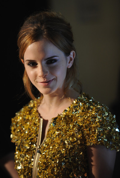 More Pics of Emma Watson Loose Bun (1 of 3) - Emma Watson Lookbook - StyleBistro
