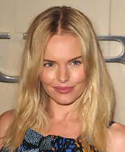 Kate Bosworth swept on a little colored gloss for just a hint of color at the Burberry Body Launch event.