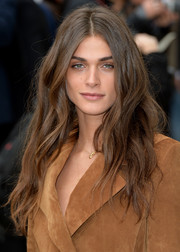 Elisa Sednaoui sported boho waves at the Burberry Prorsum fashion show.