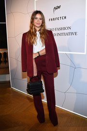 Miroslava Duma's accordion purse provided a more interesting finish.