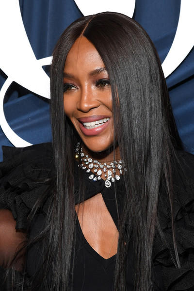 Naomi Campbell sported her signature sleek straight hairstyle at the 2019 #BoF500 Gala.