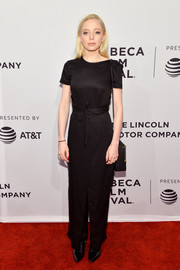 Portia Doubleday opted for a simple black maxi dress when she attended the Tribeca Film Fest premiere of 'Buster's Mal Heart.'