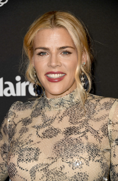Busy Philipps Loose Ponytail [marie claire change makers celebration,busy philipps,hair,face,hairstyle,blond,eyebrow,lip,beauty,chin,long hair,fashion,hills penthouse,west hollywood,california,arrivals]