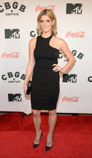 Ashley Greene added a dose of edginess to her look with a pair of black Christian Louboutin Pigalle Spikes pumps.