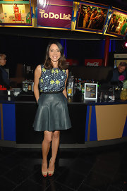 Aubrey Plaza's teal leather mini skirt at the 'To-Do List' screening was a perfect mix of girly and edgy.