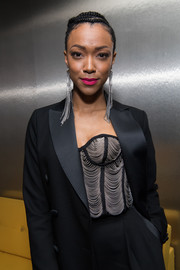 Sonequa Martin-Green was flapper-chic in a chain-embellished corset top at the Eye Speak Summit.