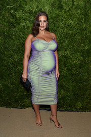 Ashley Graham was glowing in an iridescent maternity dress by Christopher John Rogers at the 2019 CFDA/Vogue Fashion Fund Awards.