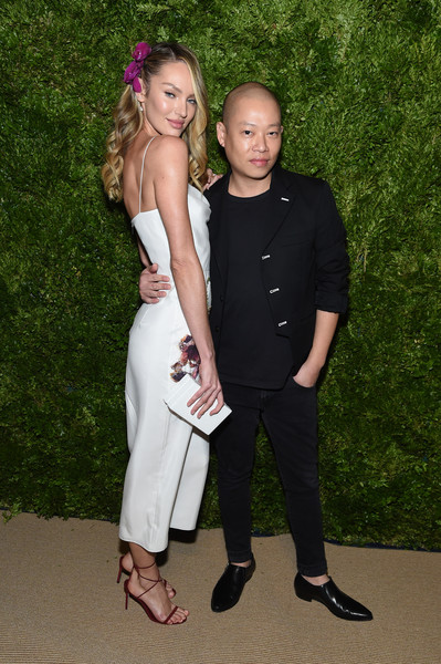 More Pics of Candice Swanepoel Strappy Sandals (1 of 8) - Candice Swanepoel Lookbook - StyleBistro [formal wear,fashion,suit,dress,event,fun,tuxedo,photography,prom,fashion design,candice swanepoel,jason wu,vogue fashion fund 2019 awards,new york city,cipriani south street,cfda]