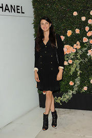 Shiva Rose was ultra chic at the Chanel boutique in LA with black ankle booties.
