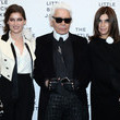 Karl Lagerfeld and Carine Roitfeld