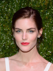 Hilary Rhoda polished off her look with simple yet elegant diamond studs.