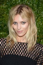 Anja Rubik made bed hair look so chic when she wore this tousled layered 'do to the Tribeca Film Festival Artists Dinner.