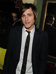 Jared Followill attended the 'New Moon' after-party looking retro in his black suit and narrow tie.