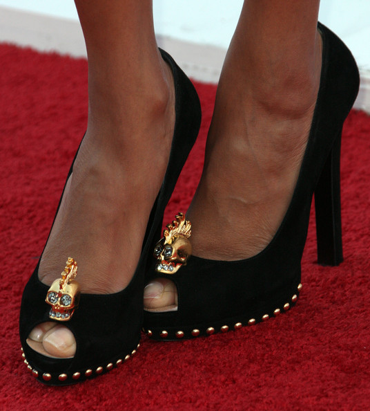 More Pics of Tyra Banks Peep Toe Pumps (1 of 6) - Tyra Banks Lookbook - StyleBistro