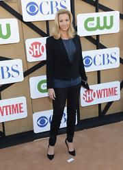 Lisa's structured single-button blazer kept her look at the CW, CBS and Showtime 2013 Summer TCA Party sleek and sophisticated.