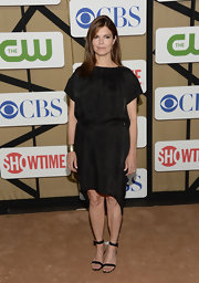 Jeanne Tripplehorn chose a draped LBD for her look at the 2013 Summer TCA party.
