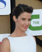 Cobie's twisted updo blended romance and sophistication for a lovely red carpet coif.