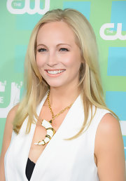 Candice Accola styled her hair in subtle layers for the CW Network New York 2012 Upfront.
