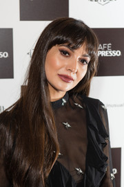 Zara Martin sported straight tresses with rounded bangs at the Cafe Nespresso Soho launch party.