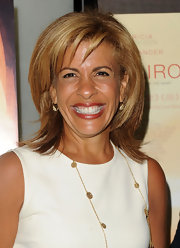 Hoda showed off her shoulder length bob and blunt bangs while hitting the premiere of 'Cairo Time'.