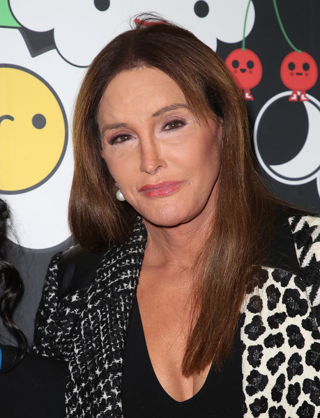 Caitlyn Jenner Long Straight Cut [alice olivia,friendswithyou collection la launch party,launch party,hair,hairstyle,lip,polka dot,pattern,design,smile,brown hair,long hair,black hair,hollywood,california,hollywood athletic club,stacey bendet,caitlyn jenner]