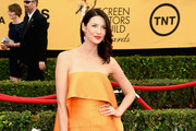 Caitriona Balfe Strapless Dress
