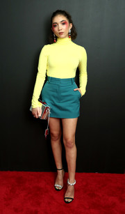 Rowan Blanchard brightened up the red carpet with this lemon-yellow Calvin Klein turtleneck during the brand's Spring 2019 show.