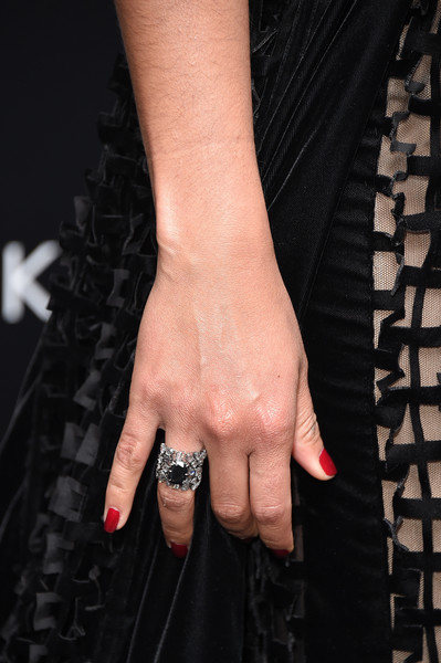 Camila Alves Statement Ring [the dark tower,nail,ring,finger,hand,wrist,engagement ring,nail care,wedding ring,jewellery,fashion accessory,arrivals,camila alves,new york,new york premiere]
